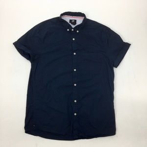 H&M Mens Button Down Short Sleeves Casual Shirt M